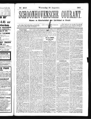 Schoonhovensche Courant 1905-08-30