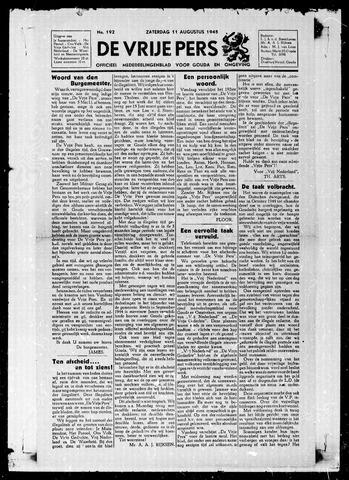 De Vrije Pers 1945-08-11