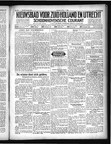 Schoonhovensche Courant 1937-01-29