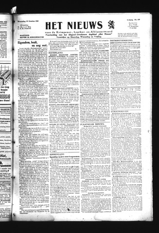 Schoonhovensche Courant 1945-10-10