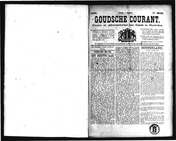 Goudsche Courant 1888-01-01