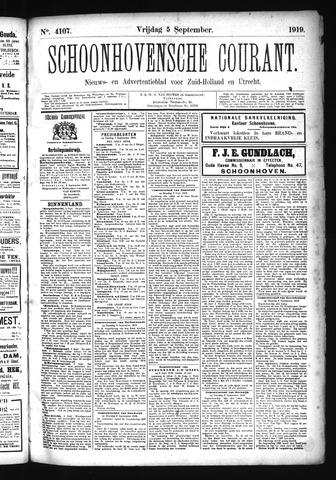 Schoonhovensche Courant 1919-09-05
