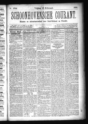 Schoonhovensche Courant 1916-02-18