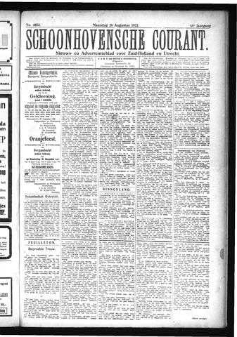 Schoonhovensche Courant 1922-08-28