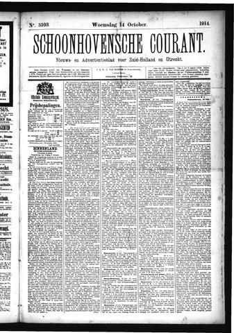 Schoonhovensche Courant 1914-10-14