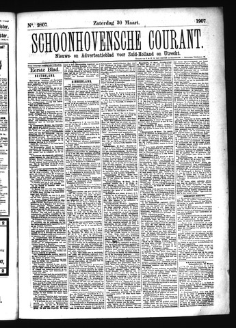 Schoonhovensche Courant 1907-03-30