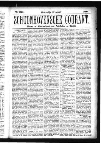 Schoonhovensche Courant 1896-04-15
