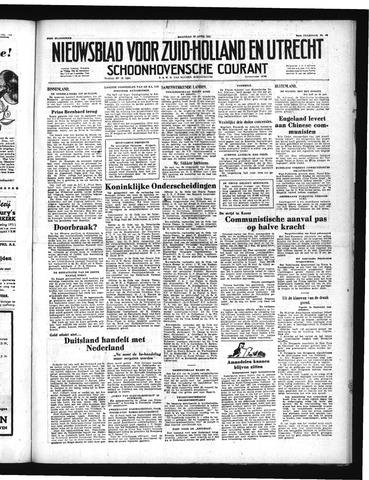Schoonhovensche Courant 1951-04-30