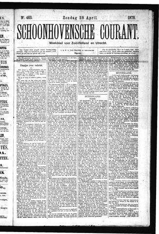 Schoonhovensche Courant 1878-04-28