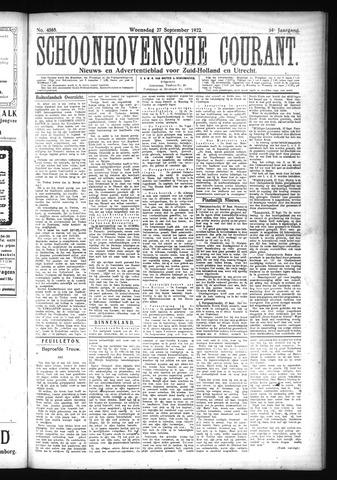 Schoonhovensche Courant 1922-09-27