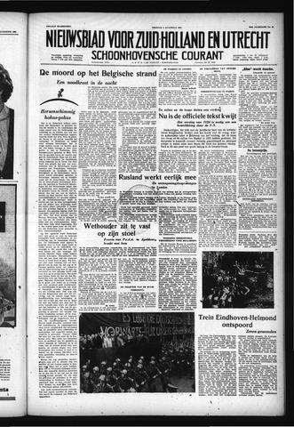 Schoonhovensche Courant 1957-08-09