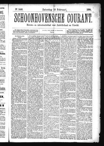 Schoonhovensche Courant 1894-02-10