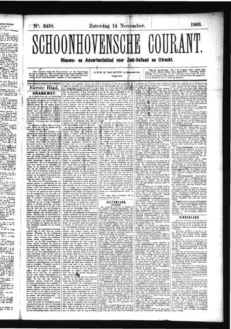 Schoonhovensche Courant 1903-11-14