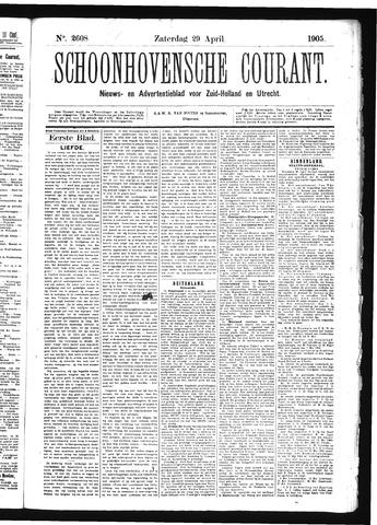 Schoonhovensche Courant 1905-04-29