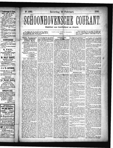 Schoonhovensche Courant 1890-02-22