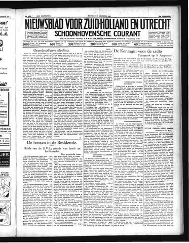 Schoonhovensche Courant 1938-08-29