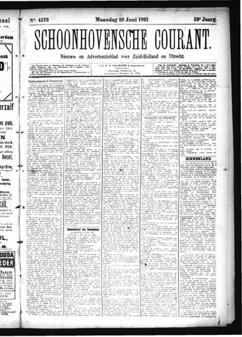 Schoonhovensche Courant 1921-06-20