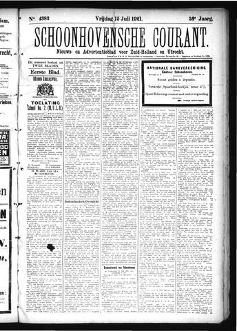 Schoonhovensche Courant 1921-07-15