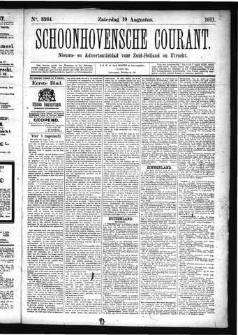 Schoonhovensche Courant 1911-08-19