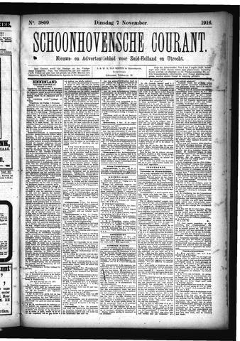 Schoonhovensche Courant 1916-11-07