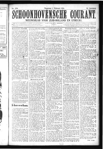 Schoonhovensche Courant 1924-02-25
