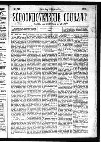 Schoonhovensche Courant 1883-09-08