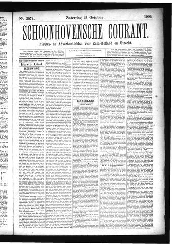 Schoonhovensche Courant 1909-10-23