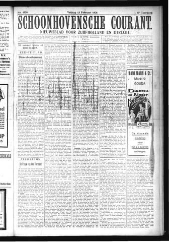 Schoonhovensche Courant 1925-02-13