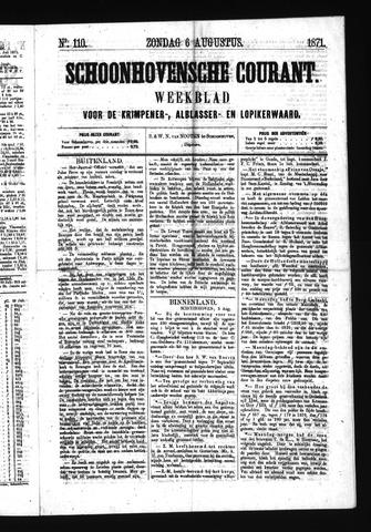Schoonhovensche Courant 1871-08-06