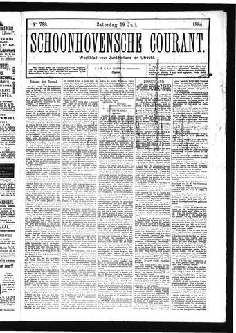 Schoonhovensche Courant 1884-07-19