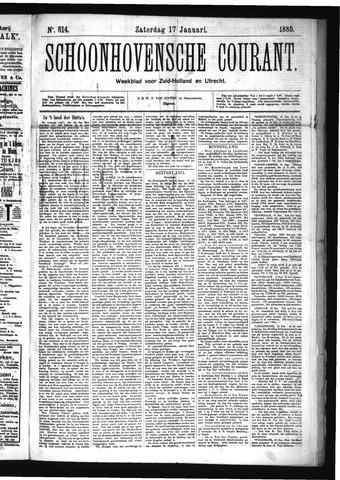 Schoonhovensche Courant 1885-01-17
