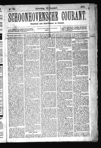 Schoonhovensche Courant 1884-01-12