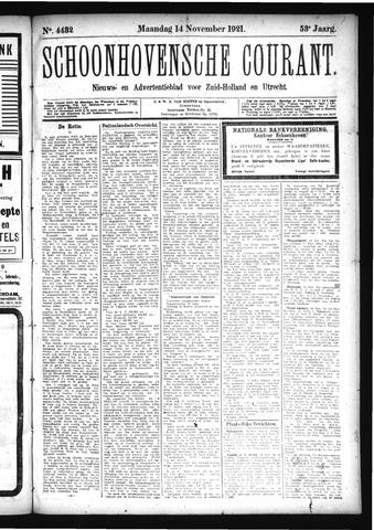Schoonhovensche Courant 1921-11-14