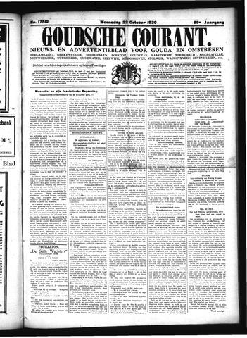 Goudsche Courant 1930-10-22