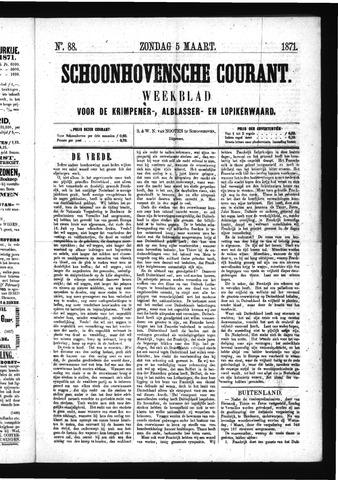 Schoonhovensche Courant 1871-03-05