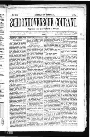 Schoonhovensche Courant 1881-02-20