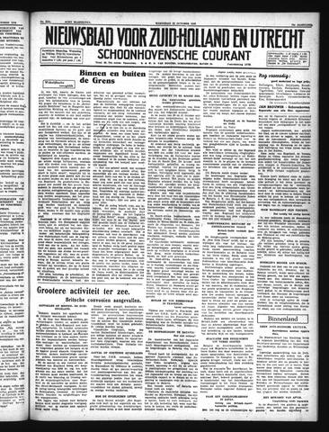 Schoonhovensche Courant 1940-10-23