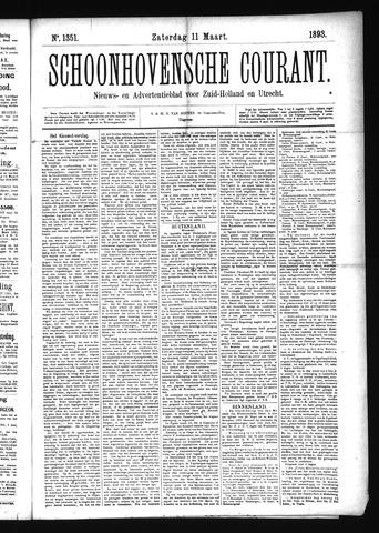Schoonhovensche Courant 1893-03-11