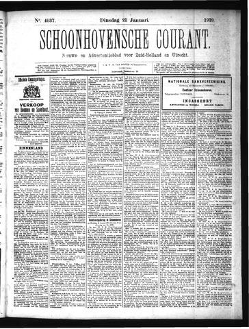Schoonhovensche Courant 1919-01-21