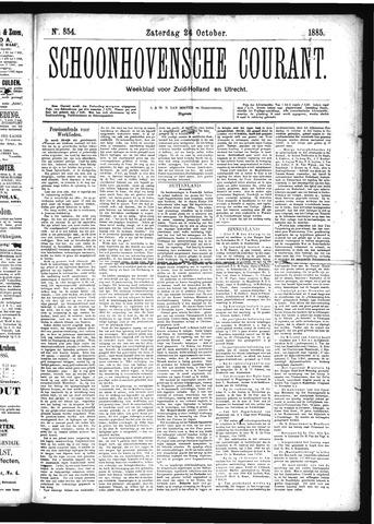 Schoonhovensche Courant 1885-10-24
