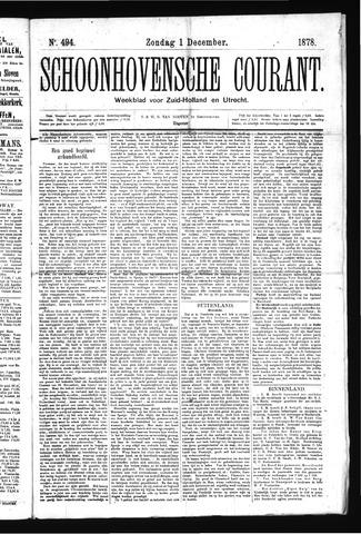Schoonhovensche Courant 1878-12-01