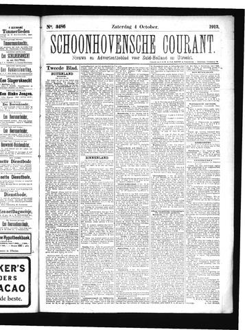 Schoonhovensche Courant 1913-10-04