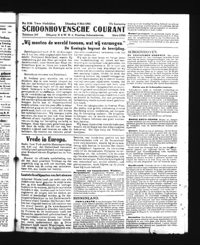 Schoonhovensche Courant 1945-05-08