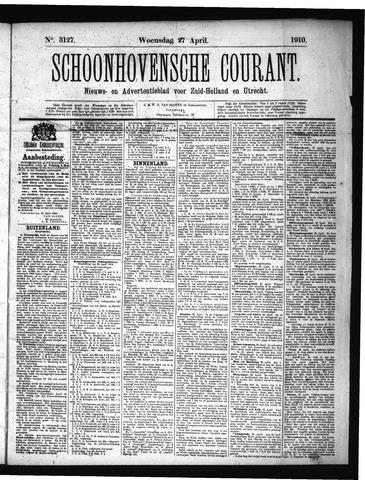 Schoonhovensche Courant 1910-04-27