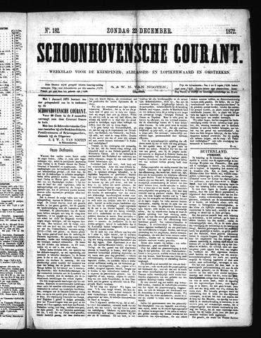 Schoonhovensche Courant 1872-12-22