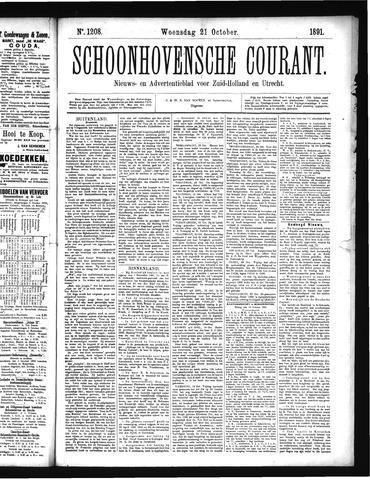 Schoonhovensche Courant 1891-10-21