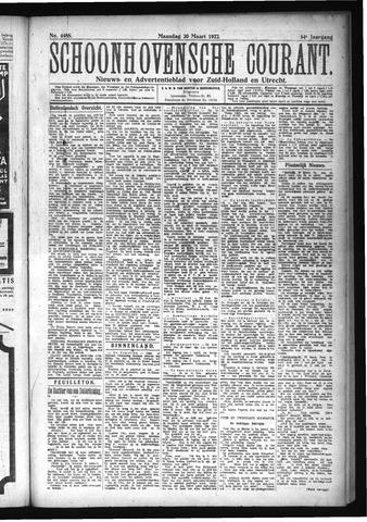 Schoonhovensche Courant 1922-03-20