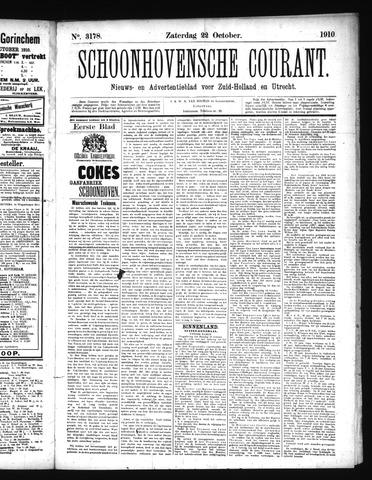 Schoonhovensche Courant 1910-10-22