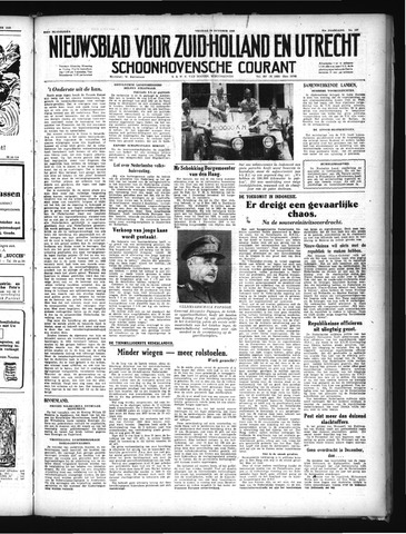 Schoonhovensche Courant 1949-10-28
