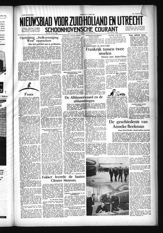Schoonhovensche Courant 1954-04-07